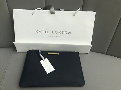 Katie Loxton London Navy Pouch/clutch Bag New With Tags