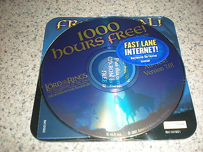New Lord Of The Rings Aol Cd Version 7 0 Disc 2001   1000 Free Hours For 45 Days