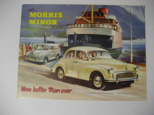 1958 Morris Minor 1000 UK Brochure