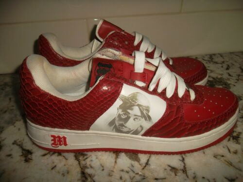 Makaveli 2pac Tupac Shakur Red/White Sneakers Shoes Men