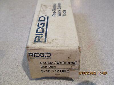 Ridgid Universal 916 - 12 Unc Bolt Threading Dies Free Shipping
