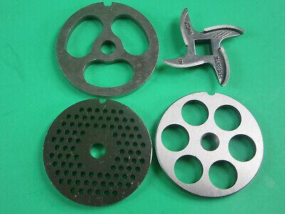 Size 8 Set Of Meat Grinder Disc Plate Knife Stainless Steel Lem Cabelas Etc