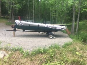 International 14 sail boat with trailer