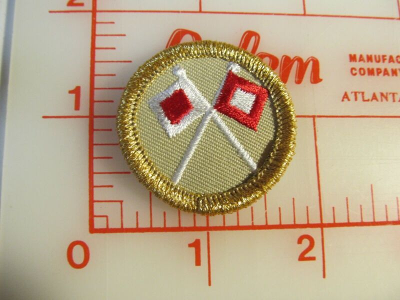 2010 SIGNALING gold mylar border collectible merit badge 1 year only patch (rU)