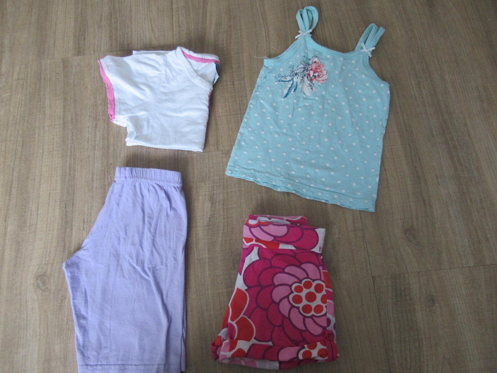 2 kurze Hosen & 2 T -Shirts  Gr. 104 / Sommerkleidung / Bekleidungspaket Mädchen