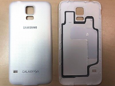 Battery Back Door Dissemble For Samsung Galaxy S5 G900T G900P G900V White w/ Gasket