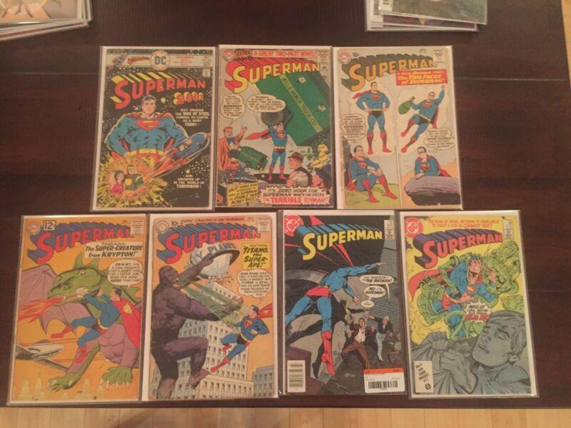Superman Lot (137 (cover detached), 138, 151, 182, 300, 405, 420)