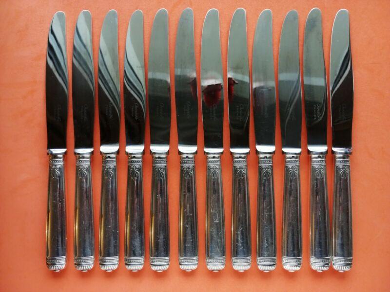 MALMAISON CHRISTOFLE SET 12 DINNER KNIVES FRANCE
