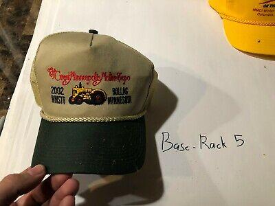 Minneapolis Moline Tractor Farm Embroidered Cap Hat Farming 2002 Show
