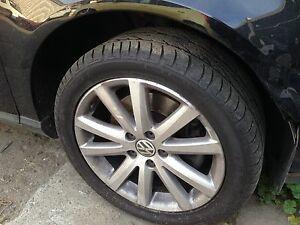 """Geniune VW Passat wheels 17"""" with good Tyres Hobart CBD Hobart City Preview"""
