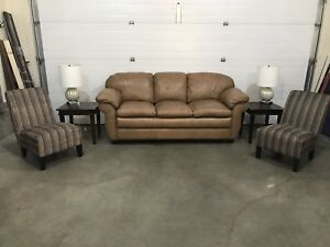 Leather living room furniture package