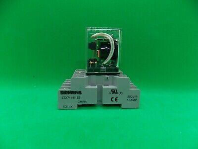 Siemens Relay 3tx7126-3hf13 Socket Base 3tx7144-1es Nob