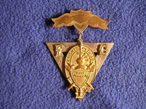 Vintage Knights Of Pythias Jewel FCB G W Bardwell Turners Falls Mass Lodge 132