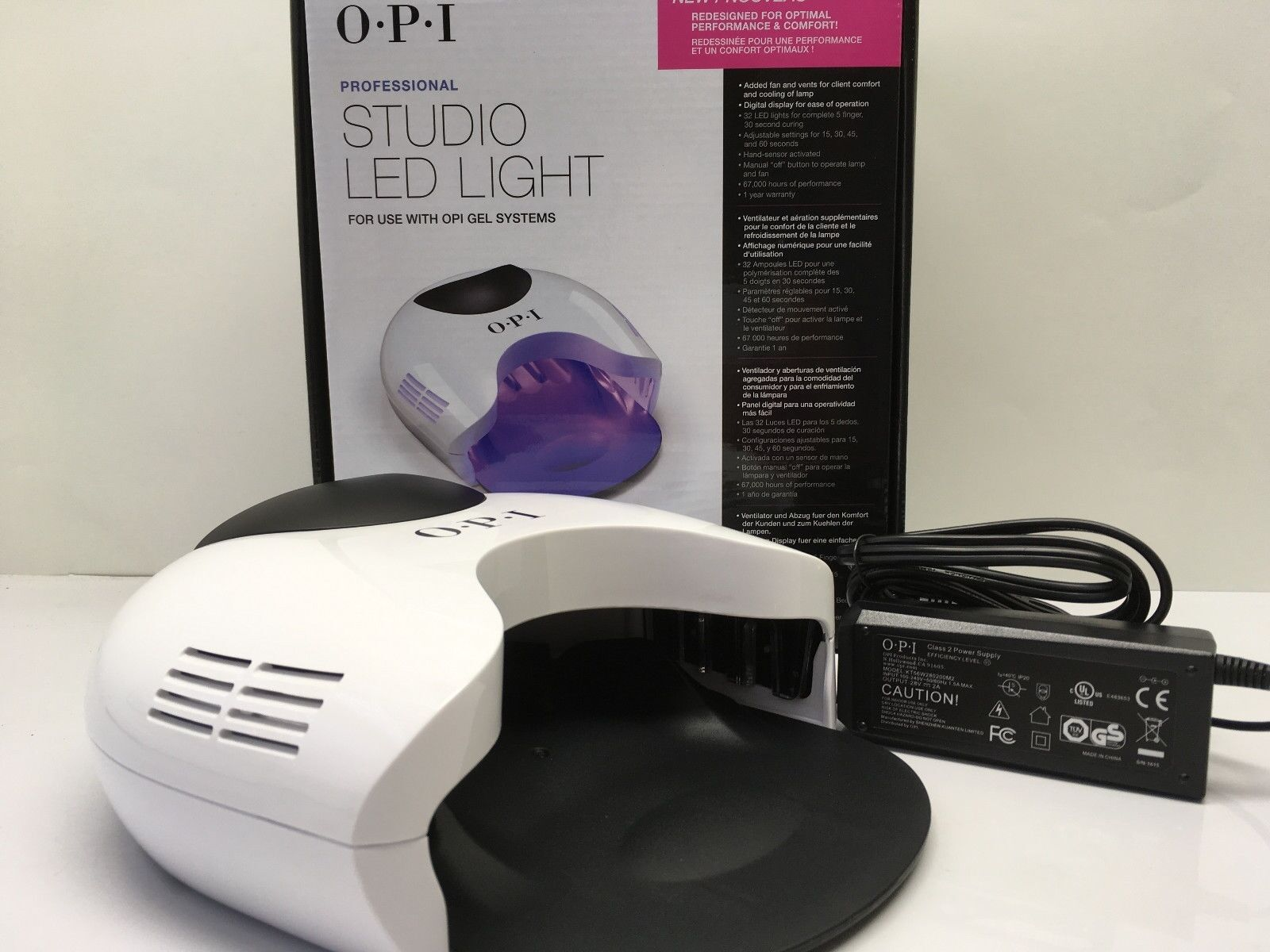 Opi Gelcolor Studio Led Light Lamp Gel Dryer 110v 240v
