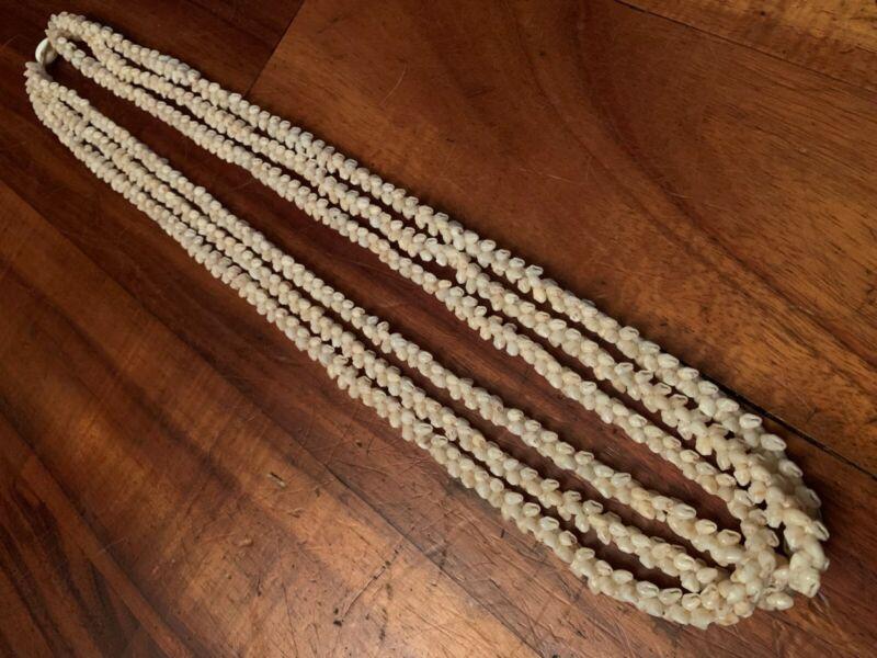Vintage Niihau Shell TRIPLE STRAND Pikake Style Lei