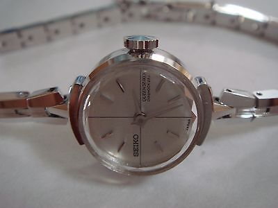 VINTAGE NEW OLD STOCK  QUEEN SEIKO DAISHOCK 23 JEWELS  WGP BACK STAINLESS STEEL