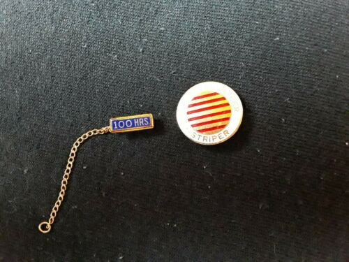 Vintage 1970s Enamel Teenage Hospital Volunteer Pin Candy Striper +100 hour pin