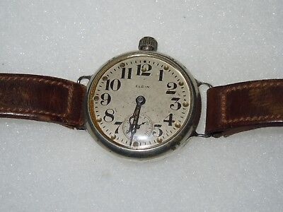 WWI Engraved Elgin Watch US Volunteer French LaFayette Flying Corps Pilot 1917