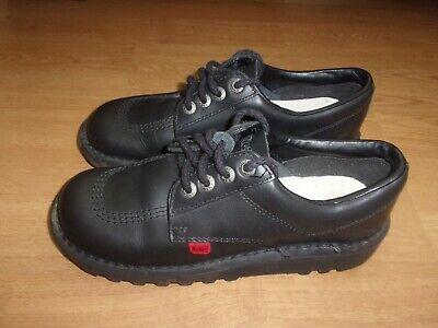Kickers Black leather mens shoes size 5.5 (EUR 38)
