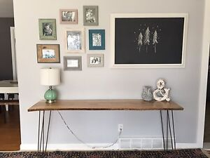 Live Edge Desk / Entryway Table - One of a Kind!!