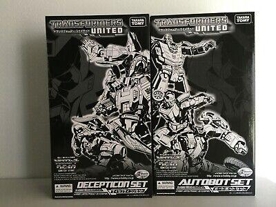 TRANSFORMERS Takara United E-hobby Decepticon and Autobot set Generations MISB.