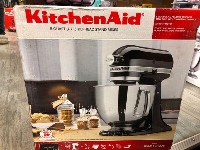 KitchenAid Artisan Series Tilt-Head Stand Mixer Onyx Black KSM150PSOB