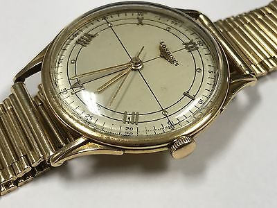 Men's 1952 Longines 14kt Gold Watch Windup Round