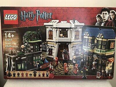 LEGO Harry Potter #10217 Diagon Alley 2025pcs Complete Set w/Minifigures & books