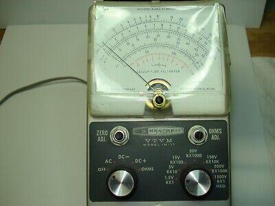 Vintage Heathkit VTVM Model IM-11 Voltmeter, Ohm Meter Tested, Works