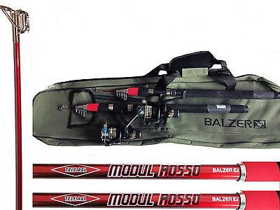 2 Balzer Aalruten AALSET mit 2 Balzer Rollen mit 0,35 mm und Rutentasche