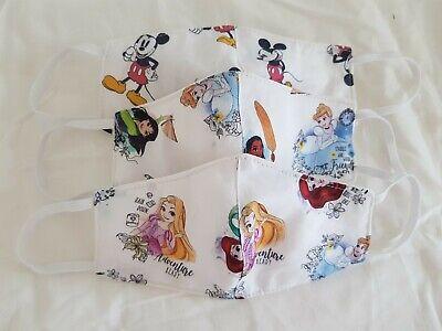 Mega-Set 3 Disney Maske für Kinder (keine Med. Mundschutz) Baumwolle Waschbar DE