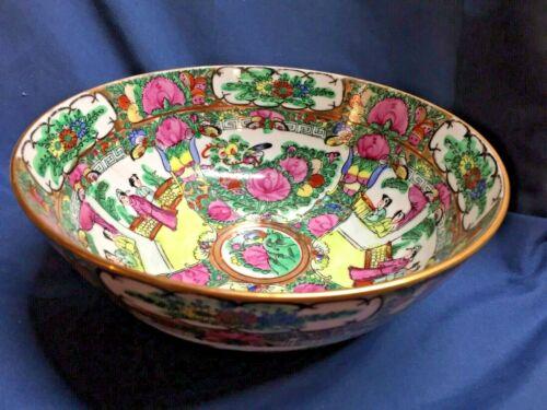 Vintage Rose Medallion Porcelain Ware ACF Bowl Decorated in Hong Kong