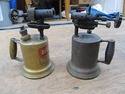 Lot Of 2 Vintage Brass Welders Blow Torches