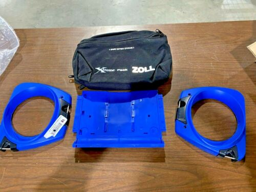 Zoll m series case, with back pouch and blue bumpers