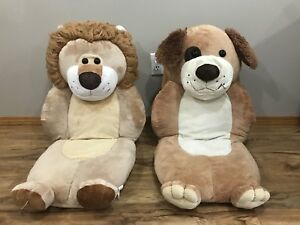 Kids chairs/cushions Lion and dog