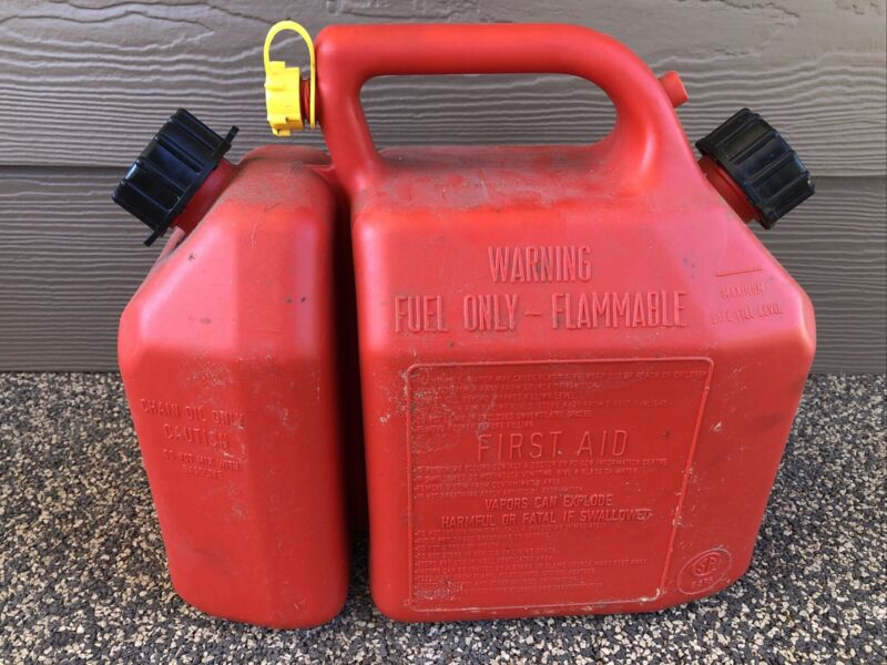 scepter gas & Oil Combo can For Chainsaw Used