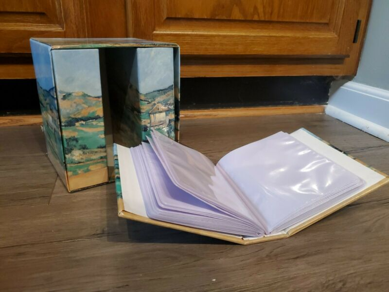 """Cezanne Highlands Photo Library  Holds 240- 4"""" x 6"""" Photos ...3 Albums and Box ."""