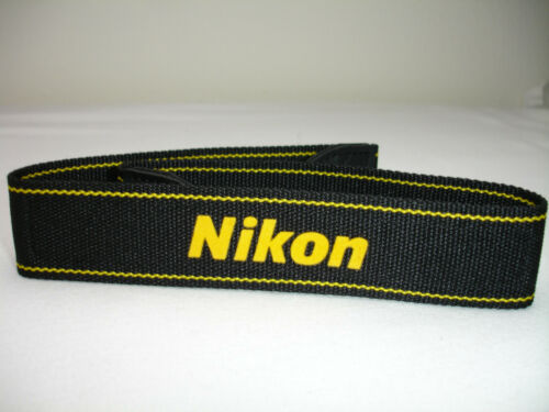 NIKON CAMERA NECK STRAP AN-DC3 Black / Yellow for DSLR / SLR - Genuine / OEM