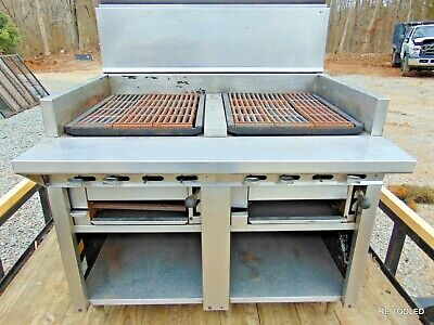 Commercial Gas Kitchen Broiler Grill Stove Montague Uf-48r