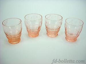 Bicchieri antichi in vetro molato lotto di vecchi for Bicchieri colorati vetro