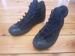 Black Converse All Star Chuck Taylors High Tops Strathfield South Strathfield Area Preview