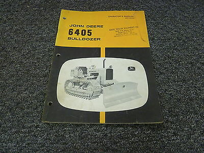 John Deere 6405 Bulldozer Tractor Dozer Owner Operator Manual Guide Omt26184