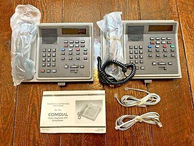 2 Vintage Comdial Voice Express 41c Telephone - Vx41c-gg