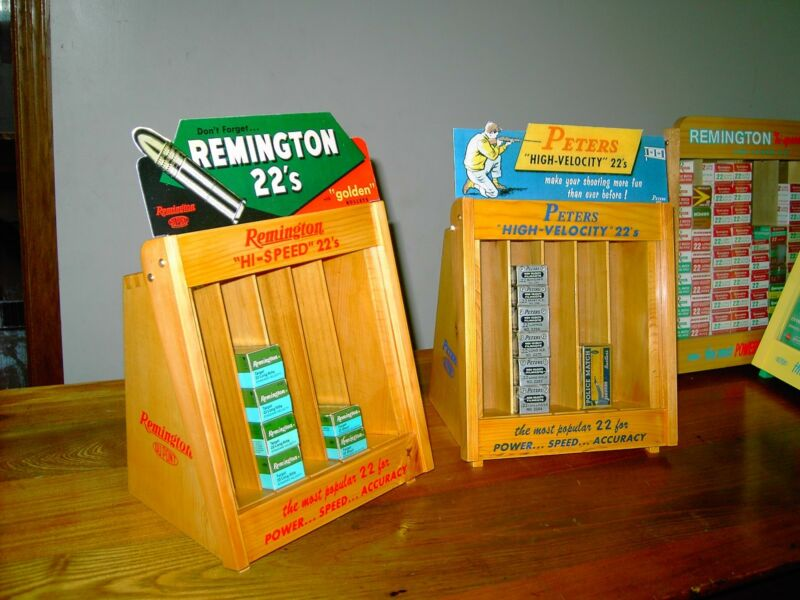 """Remington or Peters merchandisers 22 ammo display case, the small size 9"""" x 9"""""""