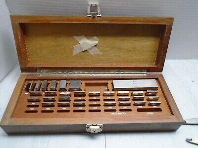 Brown Sharp Gage Block Set Wood Box