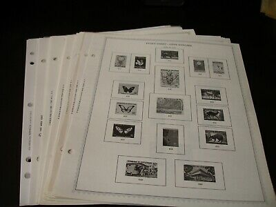 Ivory Coast, 28 Double Sided Minkus Album Pages, 1979//2005. No stamps