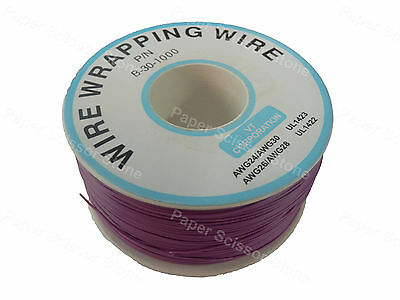 Violet 1000ft 30awg Wrapping Wire Cable Roll