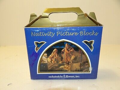 Fontanini by Roman Nativity Picture Block Puzzle Set by Roman, Inc 6 Scenes
