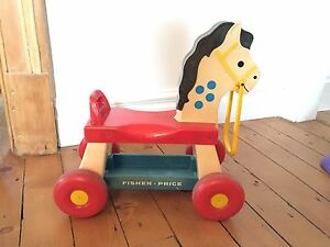 Cheval sur roue Fisher Price vintage
