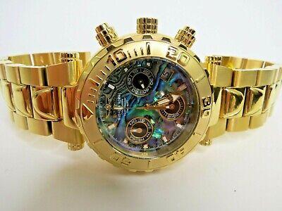 Invicta Subaqua Noma I Chronograph Watch Gold Abalone 25801